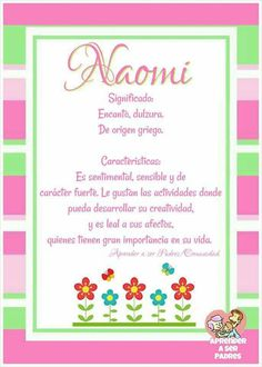 Naomi significado Names Of Baby Girl, Letter B, Disney Mickey Mouse, Baby Love, Lily, Baby Shower, Frame, Gifts, Shaby Chic