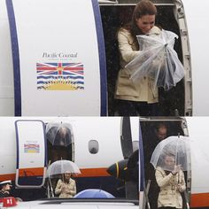 Kate and Wills travelled to Bella Bella for a day of engagements, getting day three of their royal tour of British Columbia and Yukon underway but experienced bad weather upon arrival!