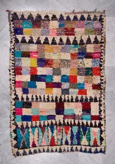 Seriously obsessed with the boucherouite rag rug.  There were a couple of these for sale at the rug store I worked for when I was 25...wish I had appreciated the value of a good rug back then.