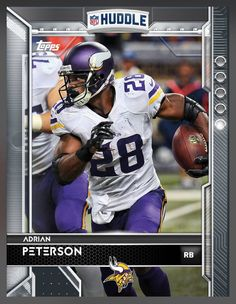 Adrian Peterson Minnesota Vikings Base Card 2016 Topps HUDDLE