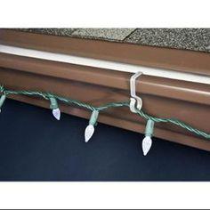 Lighting accessories gutter hooks for lights adams manufacturing gutter hooks american for Exterior christmas light clips