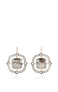 Rough Diamond Drop Earrings by Sylva & Cie for Preorder on Moda Operandi