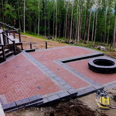 My first design and attempt at a multi terraced patio/fireplace combo F.W. Scott Ent. Finished patio 7 day project