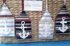 Home Decor, Anchors away, Nautical hanging  Decor, email thecraftyshamrock@gmail.com Anchors, Nautical, Unique Gifts, Holiday Decor, Crochet, Crafts, Home Decor, Navy Marine, Manualidades
