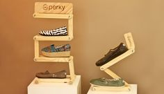 Articulated POP Display for Perky Shoes by That Design Company, via Behance