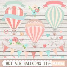 Hot air balloons clip art: Hot Air Balloon Clipart