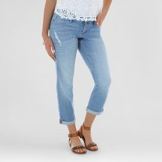 Women's Englewood Boyfriend Crop Cashmere 14 Medium - Crafted by Lee : Target