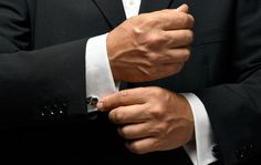French cuffs should always be complemented by the right type of suit and an appropriate occasion.
