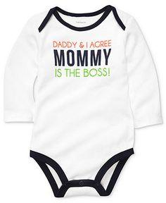 Carter's Baby Bodysuit, Baby Boys Mommy is the Boss Bodysuit - Kids Baby Boy (0-24 months) - Macy's