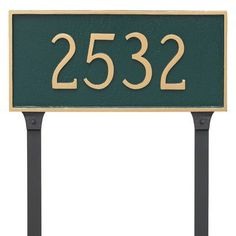 Montague Metal Products Classic Rectangle One Line Address Plaque Finish: Swedish Iron/Silver