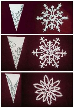 Paper snow flake patterns