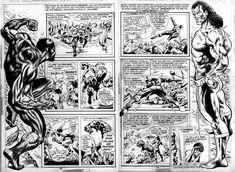 The Black Panther vs Erik Killmonger Comic Book Pages, Comic Books Art, Comic Art, Black And White Comics, Black Comics, Geof Darrow, Phil Noto, Jeff Jones, Erik Killmonger
