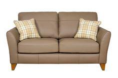 Designer Buoyant Fairfield leather 3 seater sofa £749