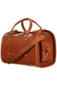 Brown Leather Barrel Bag