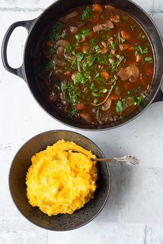 Iron Pan, Dinner, Mushroom, Dining, Dinners