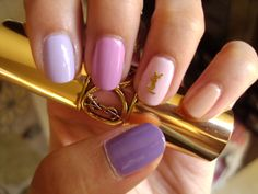 YSL Ombre Nails  Pinky: OPI Samoan Sand,Ring: OPIKiss On The Chic,Middle: OPI Lucky Lucky Lavender,Index: OPI  Rumple's Wiggin,Thumb: OPI Do You Lilac It?