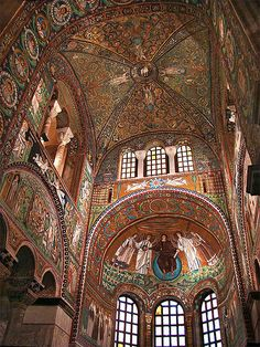 Apse from Basilica of San Vitale, Ravenna      Italy.