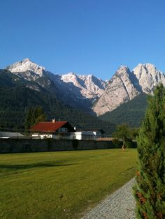 Zugspitze, Garmisch, Germany. One of the most picturesque towns you'll find. The Zugspitze seems near enough to touch.
