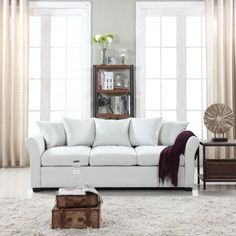 Divano Roma Furniture Modern Large Linen Fabric Sectional Sofa, L-Shape Couch with Extra Wide Chaise Lounge (Purple), Grey Fabric Sectional, Leather Sectional Sofas, Modern Sectional, Sofa Living, Condo Living, Apartment Living, L Shaped Couch, Upholstered Sofa, Wingback Chairs