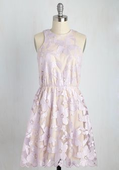 Windflower Waltz Sequin Dress in Violet. Leading your love to the garden - the sparkling sequins on your date night dress lighting the way - you stop aneath the gazebo. #lavender #modcloth