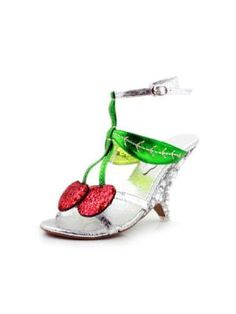 Crystal Diamond High Heel Cherry Sandals