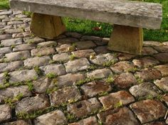 Antique reclaimed French cobblestone – setts. Reclaimed gritstone cobbles. with authentic smooth worn exquisite surfaces.