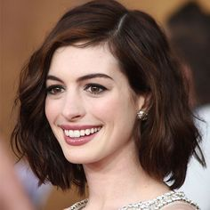 Anne Hathaway Long Bob Haircut Haircuts pertaining to dimensions 2160 X 3000 Anne Hathaway Bob Hairstyle - Bob hair cuts are already very poplar within Short Hairstyles For Thick Hair, Long Bob Haircuts, Wavy Hairstyles, Medium Haircuts, Celebrity Hairstyles, Formal Hairstyles, Small Forehead Hairstyles, Lob Hairstyle, Summer Hairstyles