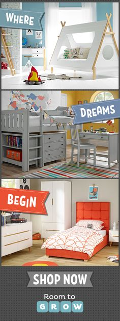 From a vast choice we've handpicked the very best children's beds for you. Clever concepts and ingenious designs provide your child with their own individual space - whatever their passion!