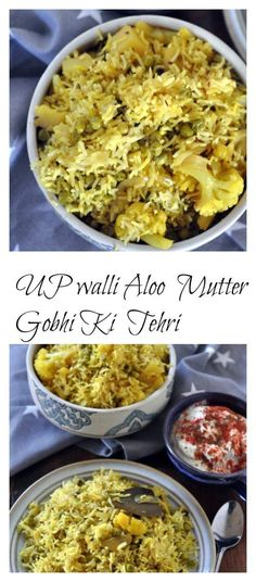 Aloo Mutter Gobhi ki Tehri is a comforting and soulful one pot meal from Uttar Pradesh. A form of pulao but more flavourful