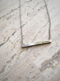 """NYPAC"" Mini Me Little Dancer Bar Necklace"