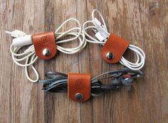 Set of 3 Leather Cord/Cable by FreeSpiritLeatherCo on Etsy