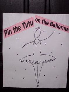 Pin the Tail on the Mouse King? Pin the Crown on the Snow Queen? For the girl's bday - a ballet themed party - in lieu of the old donkey game. Dance Party Birthday, Ballerina Birthday Parties, Ballerina Party, Fourth Birthday, Baby Girl Birthday, 4th Birthday Parties, Birthday Ideas, Batman Birthday, Tutu Party