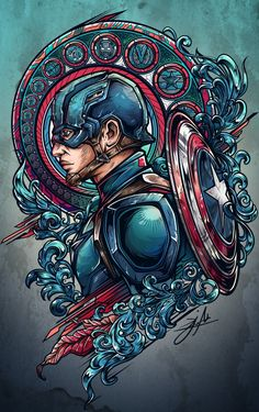 team iron vs team cap project on Behance