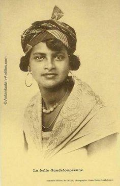Belle Guadeloupéenne 1900 Trait pour trait mon arrière grand mère paternelle côté indien