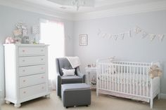 Light Pink and Gray Baby Girl Nursery