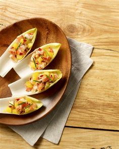Belgian Endive w/ Asian Shrimp  ---  next time you throw a party impress your guests with this delicious appetizer