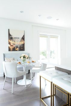 This chic Vancouver home was inspired by modern and french elements. We lovely the eclectic and elegant feel of this home. When it comes to beautiful interior design, it's all about the details. Design By Chrissy & Co Dinning Nook, Dining Room Design, Kitchen Design, Kitchen Decor, Beautiful Interior Design, Beautiful Interiors, Condo Living, Living Rooms, Small Dining