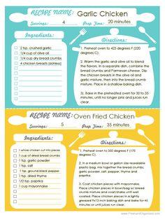 DIY Recipe Binder Set Recipe Organizer by FreshandOrganized