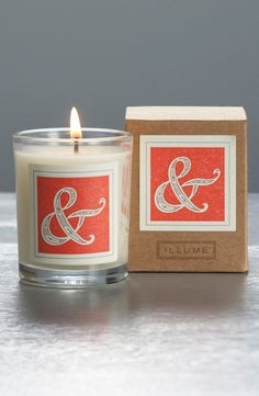 Monogrammed Natural Soy Candles, $11