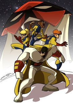 Image result for hanna barbera superheroes art