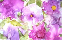 Alcohol Ink Print Alcohol Ink Artwork by ThresholdPaperArt on Etsy