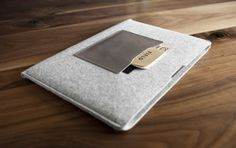 Retina MacBook Pro Alpha Case - Made in the USA - Handcrafted Organic Wool Felt and Italian Leather