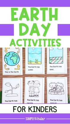 Earth Day Kindergarten Activities, Earth Day Activities, Kindergarten Literacy, Preschool Ideas, Classroom Activities, Earth Day Crafts, Childcare, Esl, Starters