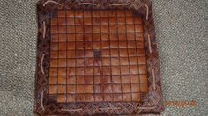 HISTORICAL Hnefatafl playing board with handmade lace; turns into small leather pouch so it can hold pieces. Crafted using only medieval appropriate methods.