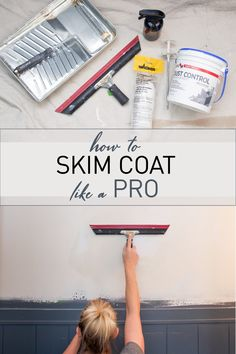 DIY tutioral on how to skim coat your walls.