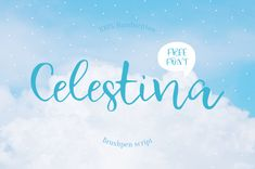 Now you can give your next design more impressive and elegant by using Celestina Free Script Typeface! This is a light and playful font Commercial Use Fonts, Best Free Fonts, Modern Fonts, Custom Fonts, Free Fonts Download, Handwritten Fonts, Premium Fonts, Free Design, Free Typeface