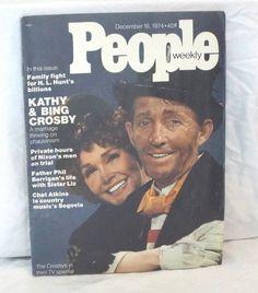 Bing Crosby People Magazine December 16 1974