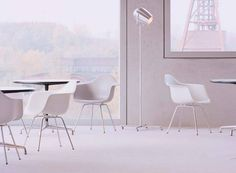 Pan Am by serien.lighting is a great match for Vitra chairs.