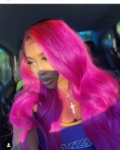 His girl a Barbie 😏💕💫 Different Curls, Different Hair Types, 100 Human Hair, Human Hair Wigs, Protective Hairstyles, Wig Hairstyles, Hot Pink Hair, Barbie, Natural Hair Styles