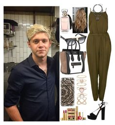 """Day out with Niall"" by zandramalik ❤ liked on Polyvore featuring Topshop, Aquazzura, CÉLINE, Accessorize, Casetify, Estée Lauder, women's clothing, women, female and woman"